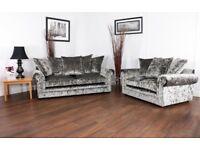 Crushed Velvet Sofa 3 & 2 combination