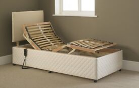 3FT SINGLE ADJUSTABLE ELECTRIC BED WITH MEMORY FOAM MATTRESS