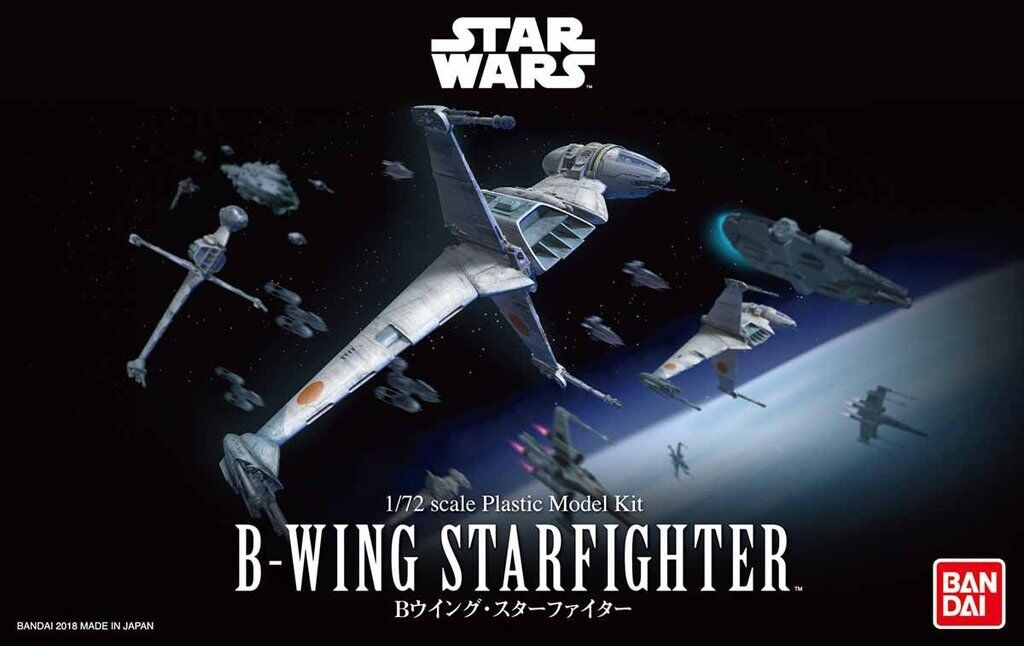Bandai Star Wars B-Wing Star Fighter 1/72 Scale Building Kit 4549660304562 USA