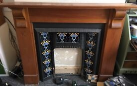 Lovely wooden fireplace surround