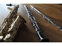 Qualified and experienced tutor has spaces available for flute, clarinet and saxophone tuition