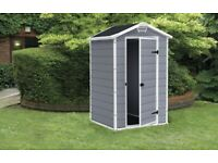 KETER 4 X 3 GARDEN STORAGE SHED.BRAND NEW IN BOX. COLLECTION ONLY