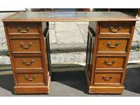 Vintage mahogany pedestal desk