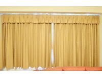 High quality curtains with pelmet