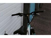 Blue and White Vertigo Rockface Bike