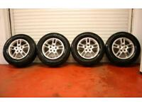 "17"" GENUINE LAND ROVER DISCOVERY 3 ALLOY WHEELS TYRES 5x120 4 RANGE"