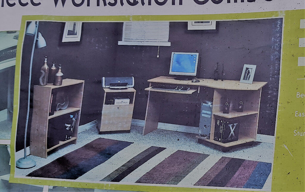 Desk Bookcase And Mobile Cart Quick Solutions O Sullivan Furniture Made In Usa