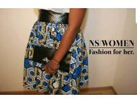 Leather and wax African print *NEW*