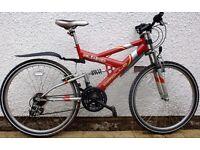 "APOLLO UNLEASHED Mountain Bike, 18"" Frame, 26"" Wheels, 21 Gears"