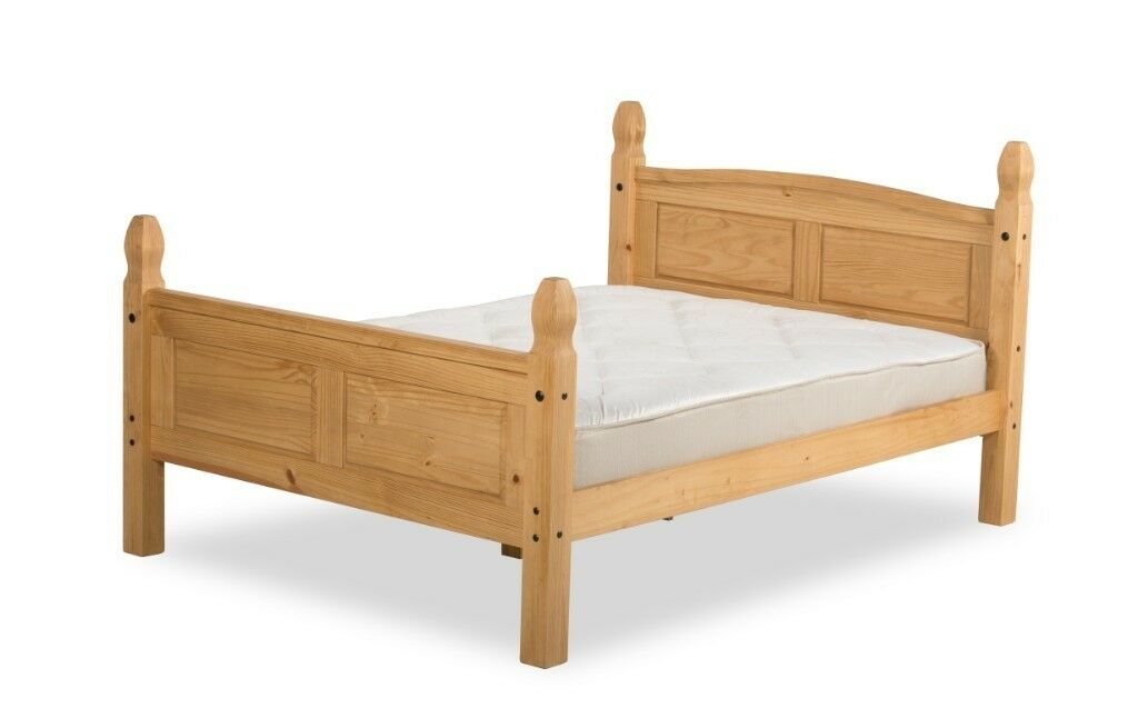 4FT6 Double Mexican Corana Style Salvador Solid Pine Bed Frame. | in ...