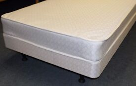New / unused.3ft single childs bed on legs. Low divan kids mattress and base