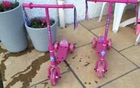 Kids pink scooters