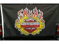 Harley Davidson M C flag.