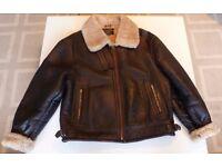 Vintage B3 Leather Shearling Bomber Flight Jacket