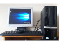 HP Windows 10 PC and Monitor