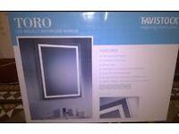 2 x LED Demister Bathroom Mirrors