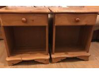 Pair of solid pine bedside units in excellent condition