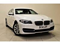 BMW 5 SERIES 2.0 520D SE 4d 188 BHP + SAT NAV + AIR CON + LEATH (white) 2014
