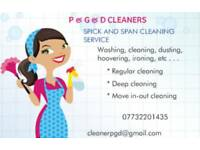 P&G&D SPICK AND SPAN CLEANING SERVICE.