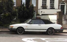 Saab 900 2.0 16v 2dr 1990 white convertible
