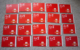 New Royal Mail Stamps FIRST 1st CLASS 20 Books of 4 Large Letter Self Adhesive