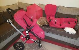 Bugaboo Cameleon 2 Pramseat & Carrycot in Red