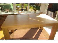 Oak extending kitchen/dining table