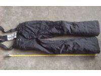 SALOPETTES Childs, ski /board, black, size 152/158