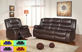 !!!BEST BARGAIN EVER!!! CHICAGO RECLINER SOFA IN BLACK AND BROWN COLOR ,,WE COVER ALL AREAS