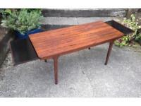 Vintage retro rosewood coffee table