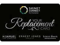 WANTED - JEWELLERY INSURANCE VOUCHER / SIGNET CARD / LMG CARD / GEMCHECK / ERNEST JONES GIFT CARDS
