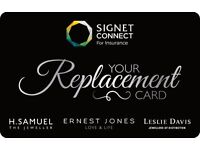 WANTED - JEWELLERY INSURANCE VOUCHER / SIGNET CARD/ LMG CARD / GEMCHECK / ERNEST JONES GIFT CARDS