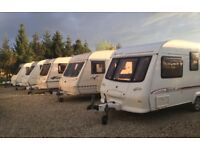 OVER 25 CARAVANS IN STOCK NOW! READY FOR THE BANK HOLIDAYS! PRICES FROM ONLY £500!