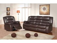STYLISH BOSTAN RECLINER SOFA IN BLACK AND BROWN COLOR WE COVER ALL AREAS FAST DELIVERY