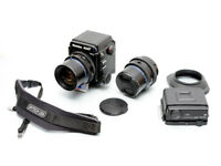 Mamiya RZ67 ProII. 50mm f4.5 W lens + 90mm f3.5 + OP/TECH USA camera strap VGood