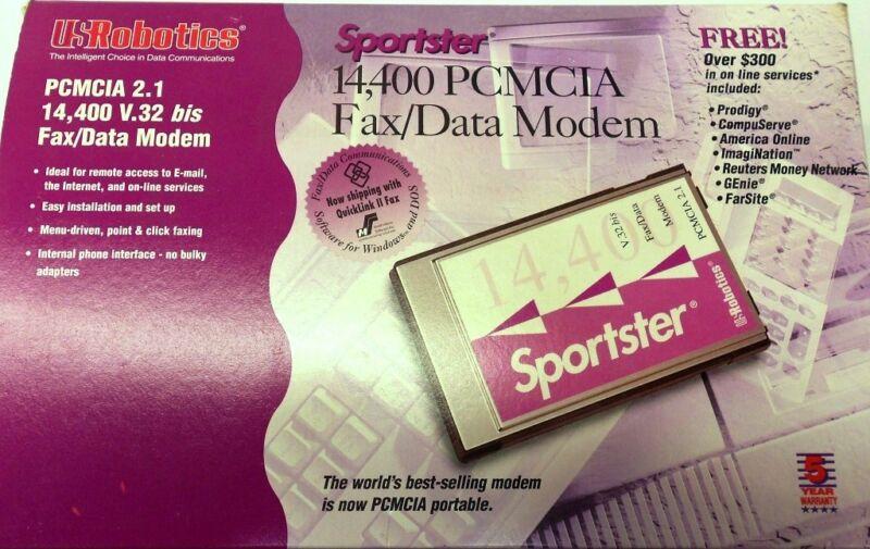 SPORTSTER 14,400 PCMCIA FAX/DATA MODEM