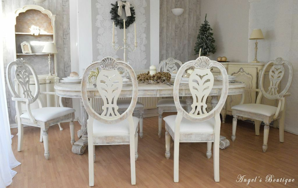 EASTER DEAL *** UNIQUE French Antique Shabby Chic Provence Dining Table