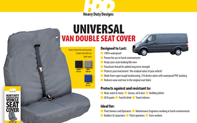 HDD New Ford Transit Double Seat Cover 364 Grey
