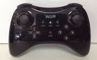 Official Nintendo Wii U Wireless Pro Controller BLACK WUP-005 OEM