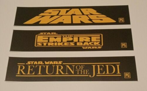 Star Wars Trilogy Small Movie Theater mylars set 2.5x11.5