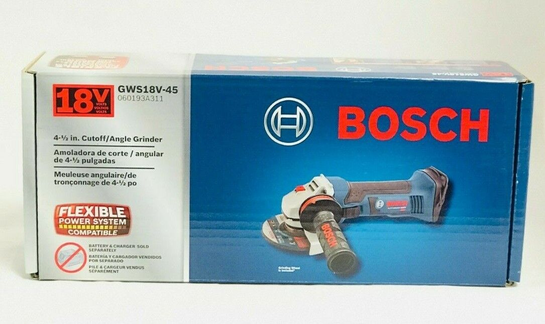 Bosch GWS18V-45 18V Cordless Lithium-Ion 4-1/2 in. Angle Gri