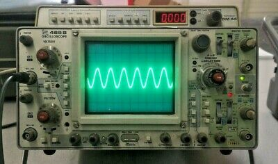 Tektronix 465bdm44 Analog Oscilloscope Multimeter - Working Includes Manual