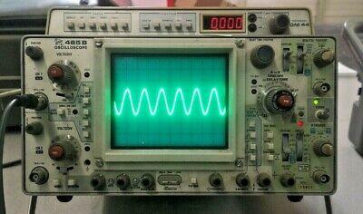 Tektronix 465bdm44 Analog Oscilloscope Multimeter - Working Includes Manual