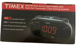 TIMEX T715 XBBU Redi-Set Dual Alarm Clock Radio AM/FM Large Digital Display