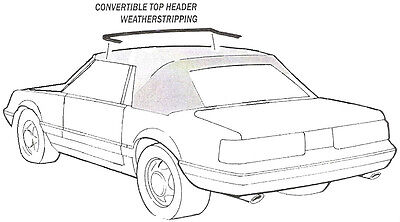 1983-1984 Ford Mustang, LX, GT convertible top front header weatherstrip seal