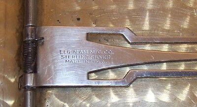 Antique Sterling Silver Cigarette Case Elgin American USA Spring Loaded Art Deco