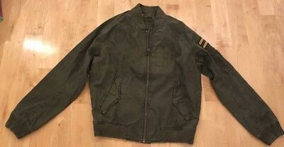 26766456b NEW AMERICAN EAGLE Men's Military Bomber Jacket SM