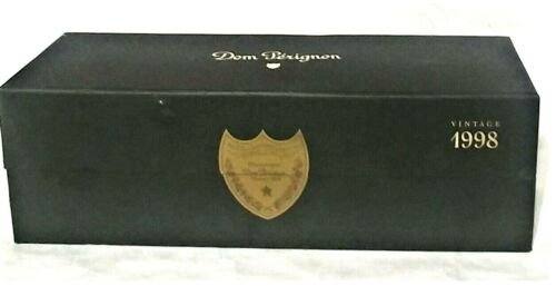Vintage 1998 Dom Perignon Green Champagne Box Imported by Moet Hennessy New York