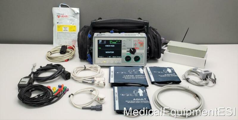 ZOLL E Series BiPhasic 12 Lead SpO2 NIBP ECTo2 Pacing Bluetooth case CAPNOSTAT