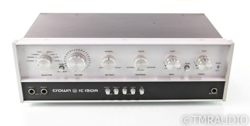Crown IC 150A Vintage Stereo Preamplifier; 150-A; MM Phono